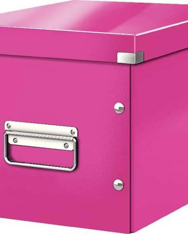 Růžová úložná krabice Leitz Office, délka 26 cm