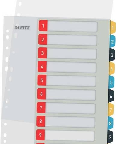 Sada 5 numerických rejstříků s 10 štítky Leitz, A4