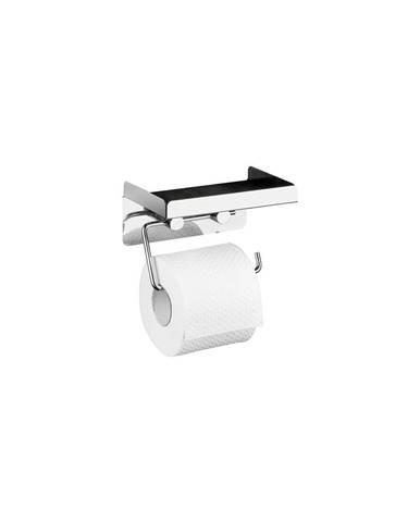 Samodržící držák na toaletní papír s odkládací plochou Wenko