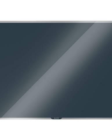 Šedá skleněná magnetická tabule Leitz Cosy, 80 x 60 cm