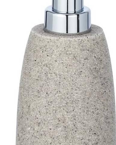 Světle šedý dávkovač na mýdlo Wenko Goa