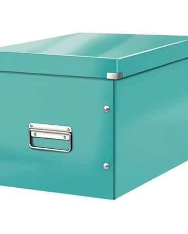 Tyrkysově modrá úložná krabice Leitz Office, délka 36 cm