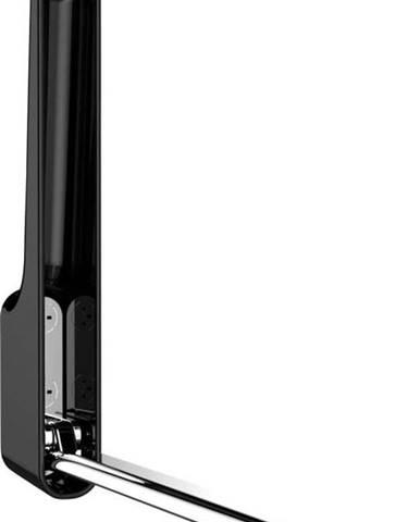 Černý nástěnný skládací háček Wenko Premium OMEGA