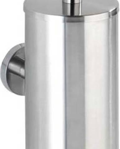 Nástěnný toaletní kartáč ve stříbrné barvě Wenko Bosio