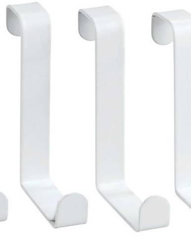 Sada 4 bílých závěsných háčků Wenko Home