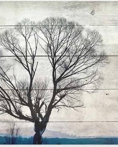 Dřevěná nástěnná dekorativní cedule z borovicového dřeva Really Nice Things Tree, 40 x 60 cm