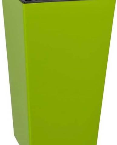 Matný hráškově zelený květináč vhodný i do exteriéru Gardenico Elise, výška46cm