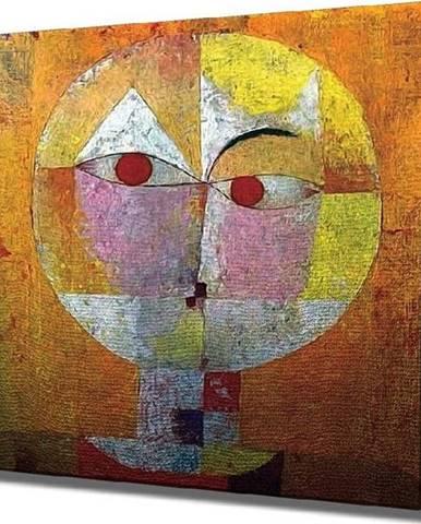 Nástěnná reprodukce na plátně Paul Klee, 45 x 45 cm