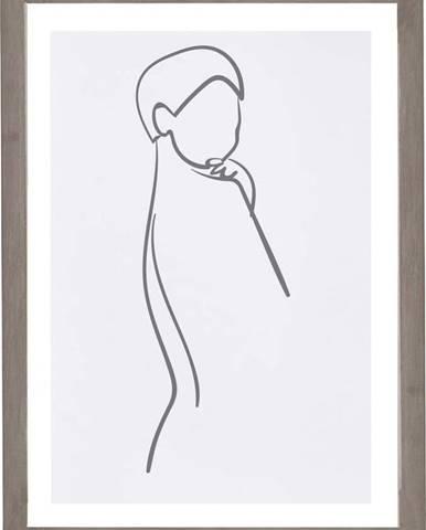 Nástěnný obraz v rámu Surdic Woman Body, 30 x 40 cm