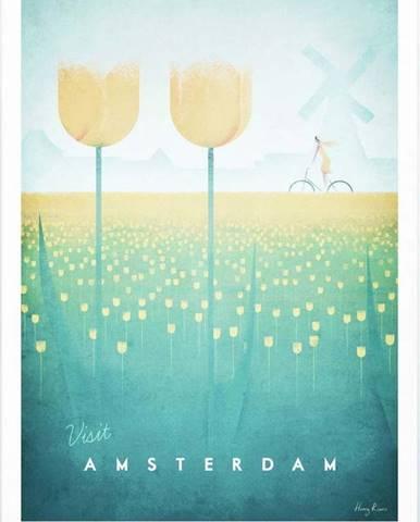 Plakát Travelposter Amsterdam, A2