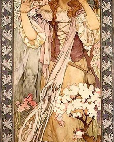 Reprodukce obrazu Alfons Mucha - Maud Adams as Joan of Arc, 30x80cm