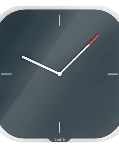 Šedé nástěnné popisovací hodiny Leitz Cosy