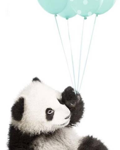 Nástěnná samolepka Dekornik Minty Panda, 55x92cm