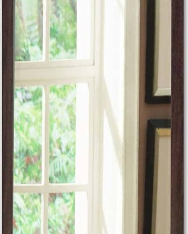 Nástěnné zrcadlo s hnědým rámem Oyo Concept,40x55cm