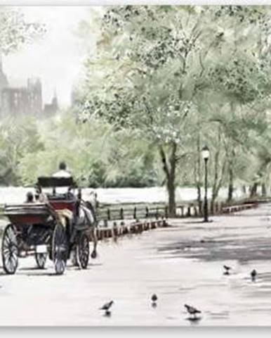 Obraz Styler Canvas Watercolor Central Park II, 60 x 150 cm