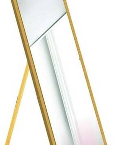 Stojací zrcadlo s hořčicově žlutým rámem Oyo Concept,35x140cm