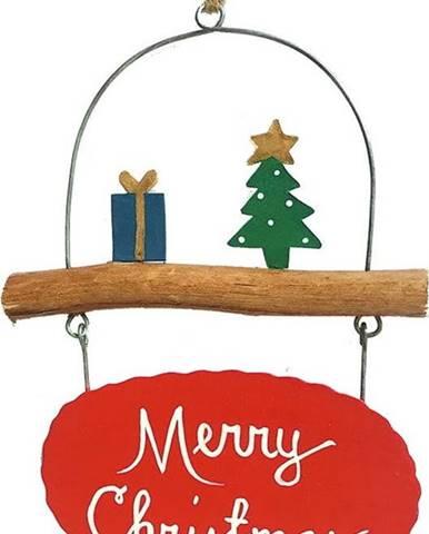Vánoční závěsná ozdoba G-Bork Merry Christmas