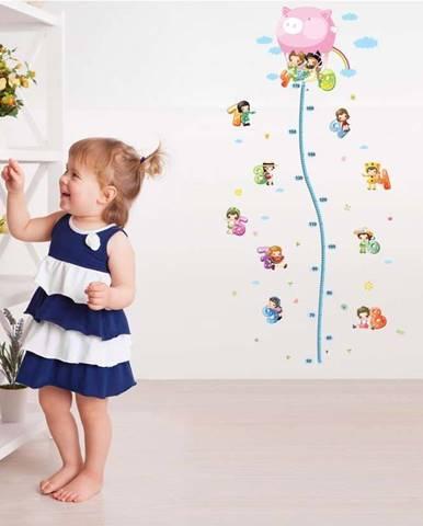 Nástěnná samolepka s dětským metrem Ambiance Balloon with Little Kids