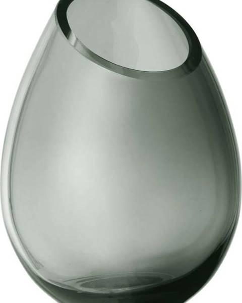 Blomus Zelená skleněná váza Blomus Raindrop,výška16,5cm