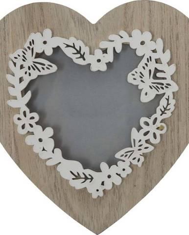 Fotorámeček ve tvaru srdce Mauro Ferretti Lolly, na fotografe 9 x 9 cm