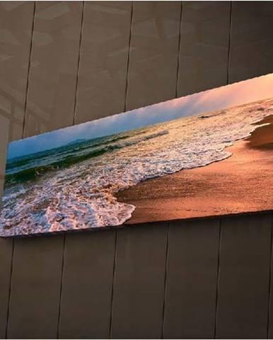 Podsvícený obraz Ledda Beach, 90x30cm