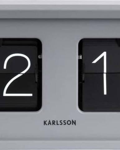 Šedé stolní hodiny Karlsson Bold Flip