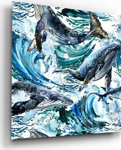 Skleněný obraz Insigne Dance of the Whales,60 x60cm
