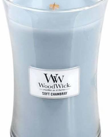 Svíčka s vůní čistého prádla, jasmínu a růže WoodWick Čisté prádlo, dobahoření110hodin