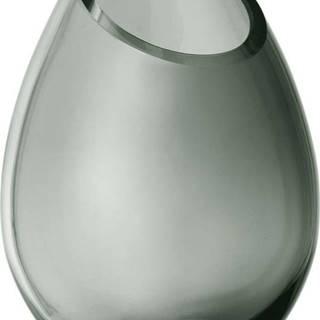 Zelená skleněná váza Blomus Raindrop,výška16,5cm