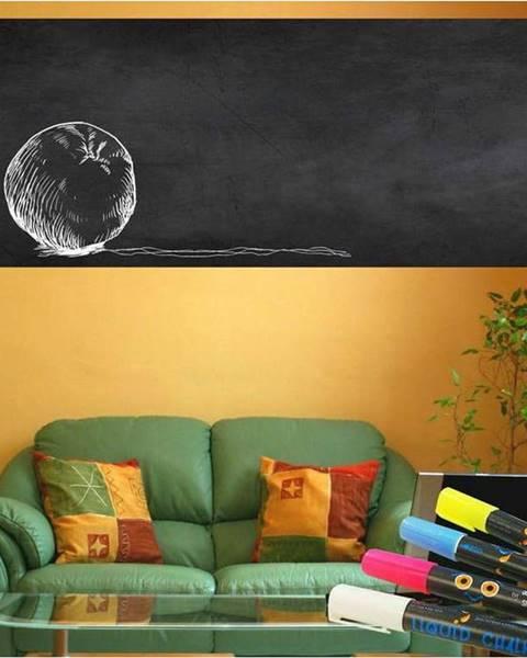 Ambiance Set nástěnné tabulové samolepky a 4 popisovačů Ambiance Giant Chalkboard, 60 x 200 cm