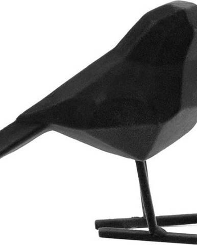 Černá dekorativní soška PT LIVING Bird, výška 17 cm