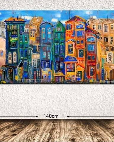 Obraz Tablo Center Colorful Houses, 140x60cm