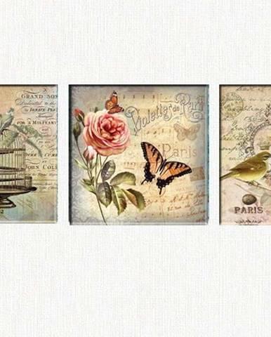 Sada 3 obrazů Tablo Center Romantic Paris
