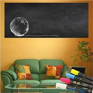 Set nástěnné tabulové samolepky a 4 popisovačů Ambiance Giant Chalkboard, 60 x 200 cm