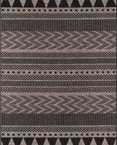 Černo-béžový venkovní koberec Bougari Sidon, 70 x 140 cm