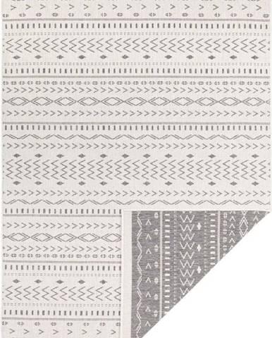 Šedo-krémový venkovní koberec Bougari Kuba, 150 x 80 cm