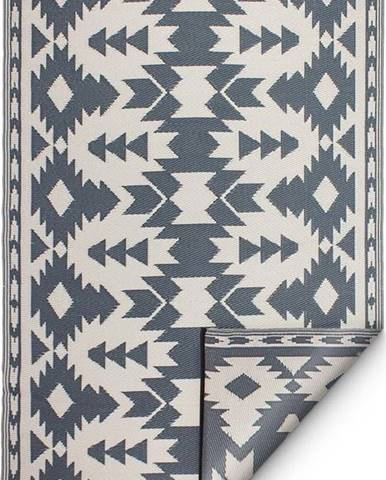 Šedý oboustranný venkovní koberec z recyklovaného plastu Fab Hab Miramar Gray, 120 x 180 cm