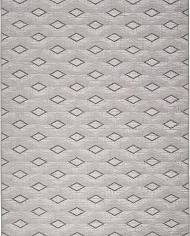 Šedý venkovní koberec Universal Weave Kasso, 77 x 150 cm
