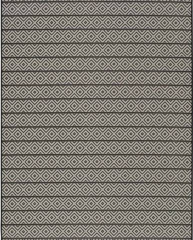 Tmavě šedý venkovní koberec Universal Tokio Stripe, 80 x 150 cm