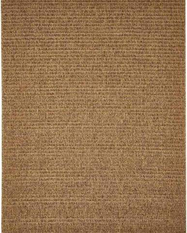 Hnědý venkovní koberec Floorita Plain, 133 x 190 cm