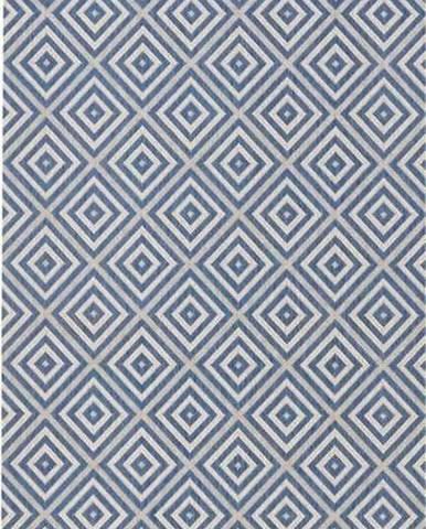 Modrý venkovní koberec Bougari Karo, 80x200cm