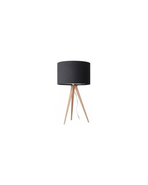 Zuiver Černá stolní lampa Zuiver Tripod Wood