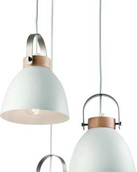 LAMKUR Bílé závěsné svítidlo pro 3 žárovky Lamkur Danielle