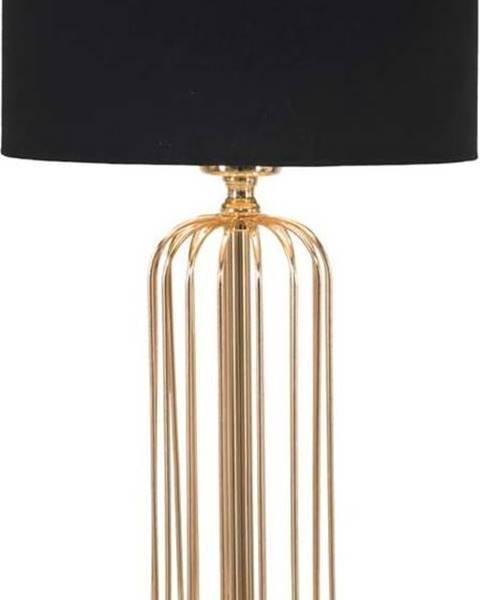 Mauro Ferretti Stolní lampa v černo-zlaté barvě Mauro Ferretti Glam Towy, výška51cm