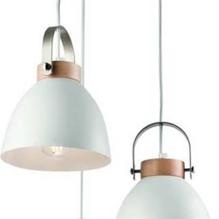 Bílé závěsné svítidlo pro 3 žárovky Lamkur Danielle