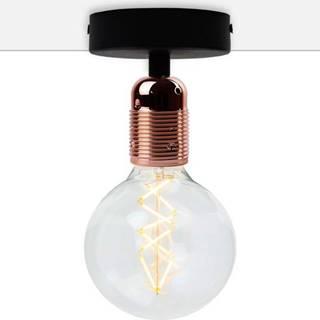Černé stropní svítidlo s měděnou objímkou Bulb Attack Uno Basic