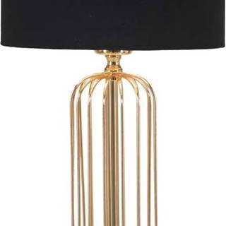 Stolní lampa v černo-zlaté barvě Mauro Ferretti Glam Towy, výška51cm