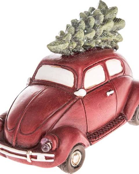 Dakls Červené vánoční auto s LED světlem Dakls, délka 11,5 cm