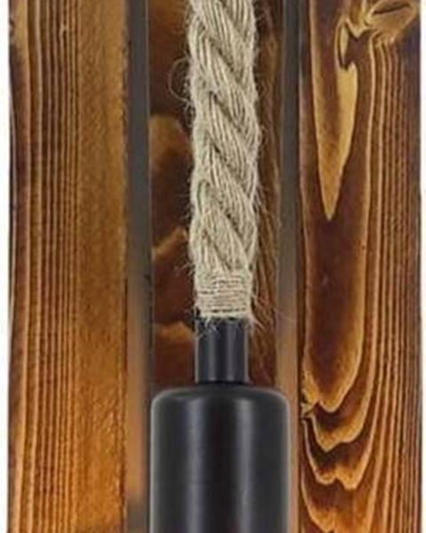 All Design Nástěnné svítidlo z borovicového dřeva Niki