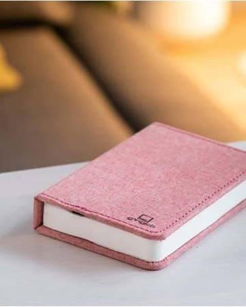 Gingko Růžová malá LED stolní lampa ve tvaru knihy Gingko Booklight